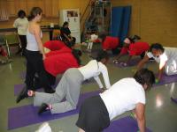 thumbnail Teen Esteem students exercising with certified fitness instructor