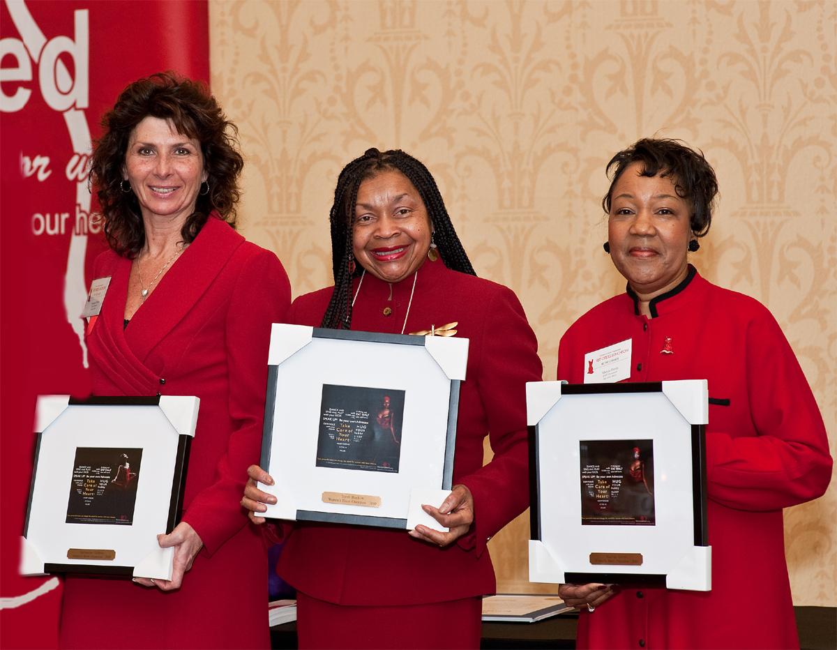 Women's Heart Champions Dimola, Barlow, Davis