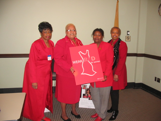 thumbnail Wear Red day participants at the NJ statehouse